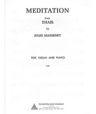 Meditation From Tha?S, For Violin And Piano