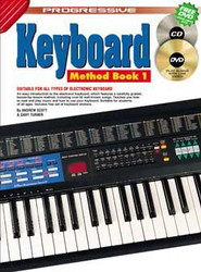 Progressive Electronic Keyboard Method Book 1 Andrew Scott; Gary Turner - Book/Dvd/Cd