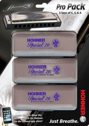 Hohner 560 Special 20 HarmonicaPro Pack - Key of C,G,A