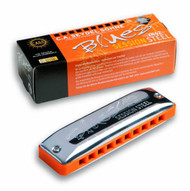 Seydel Blues Session Steel - Key of D (10301-D) Harmonica and Packaging