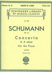 Concerto In A Minor, Op. 54 (2-Piano Score), Piano Duet