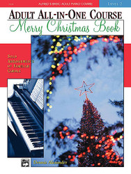Alfred's Basic Adult All-In-One Course Merry Christmas Book, Level 2