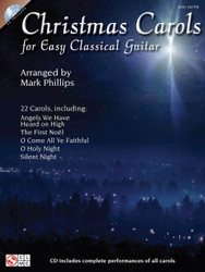 Christmas Carols For Easy Classical Guitar, Easy Guitar With Notes & Tab