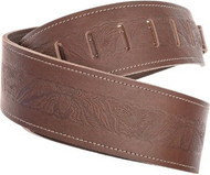 Planet Waves Leather Guitar Strap Brown Embossed