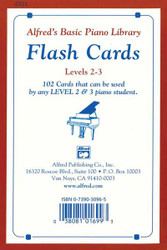 Alfred's Basic Piano Course: Flash Cards, Levels 2 & 3