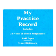 My Practice Record, Hal Leonard Student Piano Library