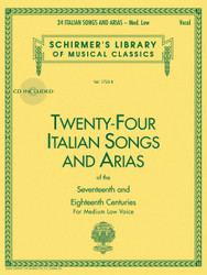 24 Italian Songs & Arias - Medium Low Voice (Book/Cd), Medium Low Voice - Book/Cd, Medium Low - Book/Cd