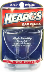 Hearos NRR 12 db High Fidelity 1 Pair (H211) Package as seen on shelf