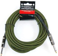 18.6' Strukture Military Green Woven Instrument Cable (SC186MG)