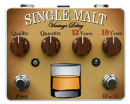 Tortuga Single Malt Dual Vintage Delay And Echo Guitar Effects Pedal