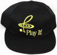 "CMC Baseball Cap ""Play It!"" - Black and Gold"