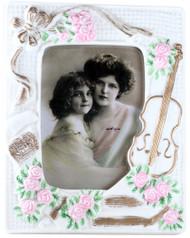 Porcelain Picture Frame - Violin and Roses