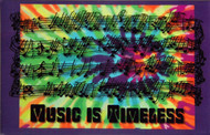 "Fridge Magnet ""Music is Timeless"""