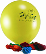 """Balloons """"Music is Not Just Hot Air"""" 12-Pack (5021)"""