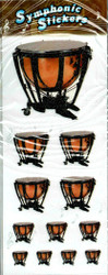 CMC Dimensional Stickers Timpani Drums 6 Sheets