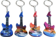 CMC Airbrushed Beach Guitar Keychains (8064)