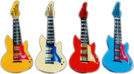 Fridge Magnets - Set of 12 Airbrushed Guitars (8066)
