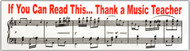 "CMC Bumper Sticker ""If You Can Read This Thank a Music Teacher"" Pack of 6"