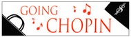 "CMC Bumper Sticker ""Going Chopin"" Pack of 6"