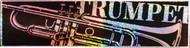 """CMC Bumper Sticker """"Trumpet"""" Pack of 6 (8313)"""