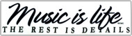 "CMC Bumper Sticker ""Music Is Life The Rest Is Details"" Pack of 6"