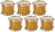 Golden Drum Ornaments Set of 6