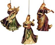 Kurt S. Adler Ornament- LADIES WITH INSTRUMENT