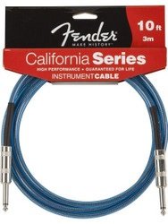 10' Fender California Instrument Cable - Lake Placid Blue