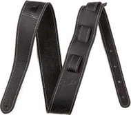Fender Monogrammed Leather Strap - Black Leather with Tooled Fender Logo (099-0681-006) Full Product View