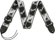 Fender Monogrammed Strap - Black/Light Grey/Dark Grey (099-0681-543)