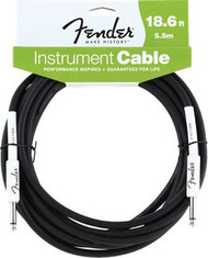 18.6' Fender Performance Series Cables Instrument Cable - Black