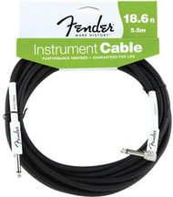 18.6' Fender Performance Series Cables Angled Instrument Cable - Black