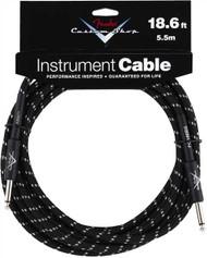 18.6' Fender Custom Shop Instrument Cable - Black Tweed (099-0820-037)