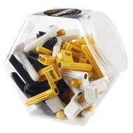Dunlop Stringwinder, Black, Yellow and white. Jar of 50 (105)