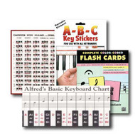 All Ages Beginning Piano Pack - 4 item set - Includes; Reusable ABC Key Stick..