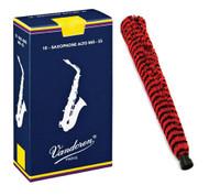 Vandoren Alto Saxophone Reeds #2.5 - 10 Pack and H.W. Alto Sax Pad-Save