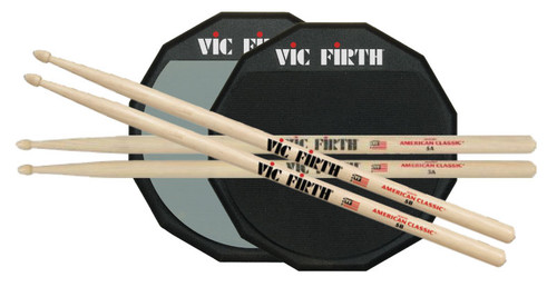 Vic Firth Practice Bundle #2 - Vic Firth Sticks 5A and 5B, Vic Firth 12 Inch ..