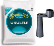 Bundle: Martin Ukulele Strings and Dunlop Stringwinder