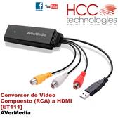 ET111 Conversor Video Compuesto RCA a HDMI