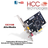 CE310B SD PCI-e Video Compuesto y S-Video - Línea Profesional SDK [AVerMedia]