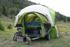 Back of LittleGiant TreeHaus Utility Trailer Camper with the ArcHaus Shelter