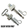 anti-rattle silent hitch pins