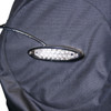 Close-up Of LED Lights On BikeBag