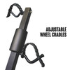 Adjustable Wheel Cradles Fit Bicycles Of Any Size And Frame
