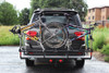 In-Line Rear Four Bicycles Transport on SUV