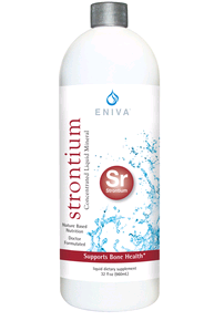 Eniva Minerals for Life Strontium Liquid Concentrate, 32 oz, dietary supplement, Cell-Ready mineral STRONTIUM,  proprietary nutrient delivery system, bone health, skeletal system, elements, alkaline properties, structure, function skeletal system, bone density, bone metabolism, Product ID # 8217