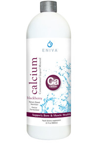 Eniva Calcium Liquid Minerals for Life Liquid Concentrate, 32oz, bone formation, maintenance of teeth, regulatory functions in body, fat and protein digestion, energy production, nerve transmission, heartbeat, absorption of other nutrients, Calcium promotes cell membrane permeability, Product ID # 8202