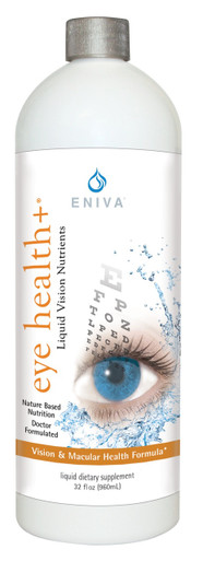 Eniva Eye Health+ Liquid Concentrate, 32 oz, highly potent nutritional supplement, eye health, supports sight and retaining macular health, liquid vitamins, minerals and antioxidants,* Product ID # 17009