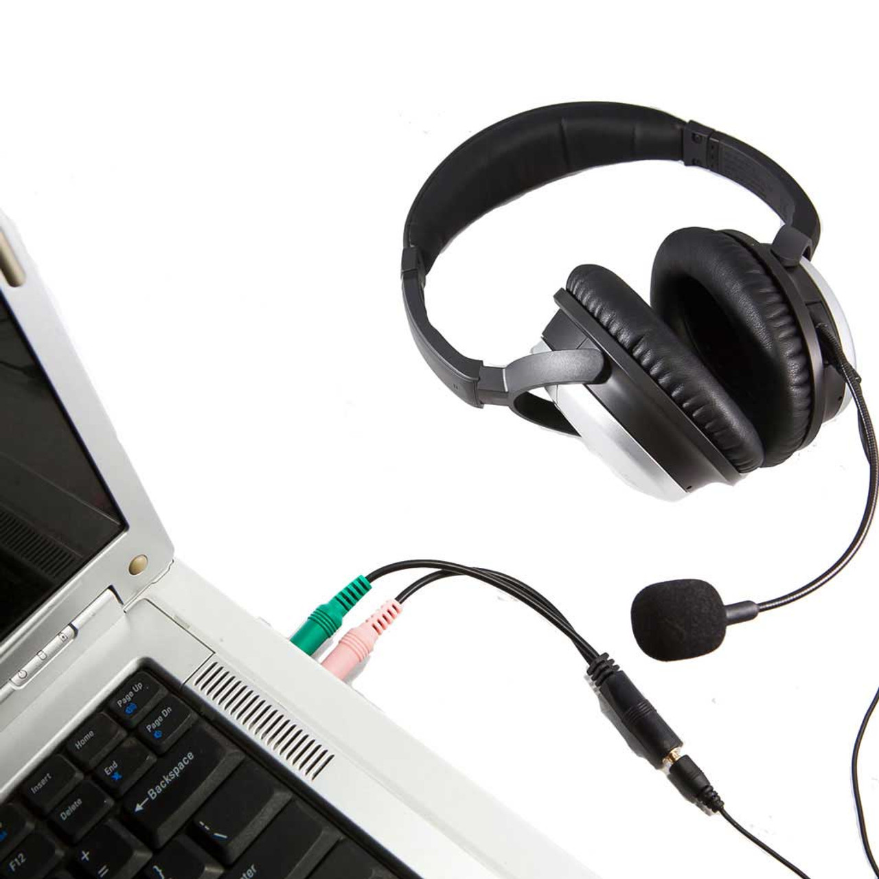 bose headset. pc adapter with noise canceling microphone for bose qc headphones headset