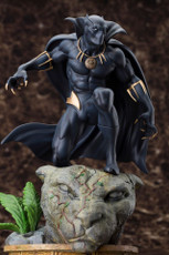 black panther fine art statue